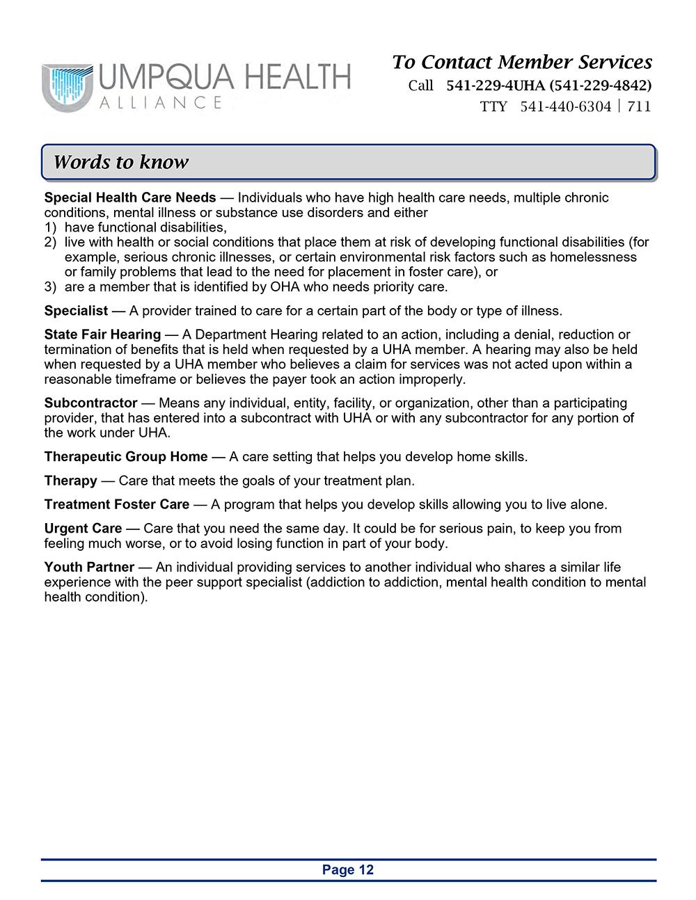 Member Handbook - Page 12